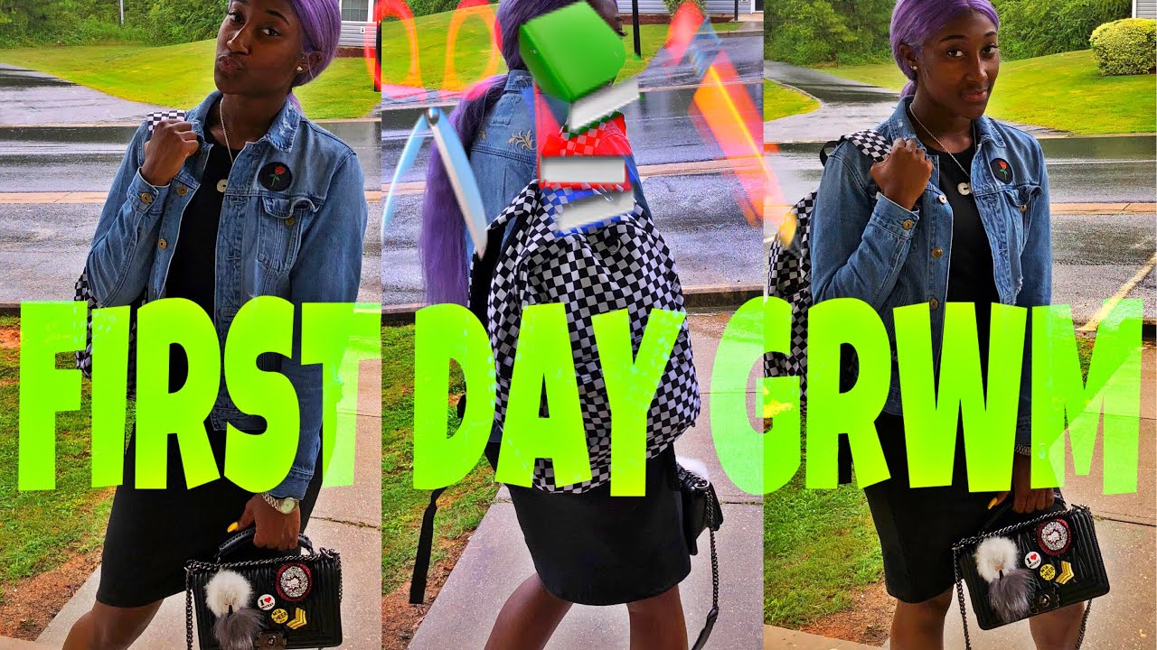 FIRST DAY OF SCHOOL SENIOR GRWM/MORNING ROUTINE!!!