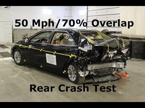 2013 2018 Toyota Rav4 Fmvss 301 Rear Crash Test 50 Mph