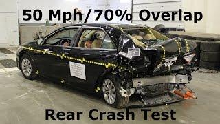 2015-2018 Toyota Camry FMVSS 301 Rear Crash Test (50 Mph)