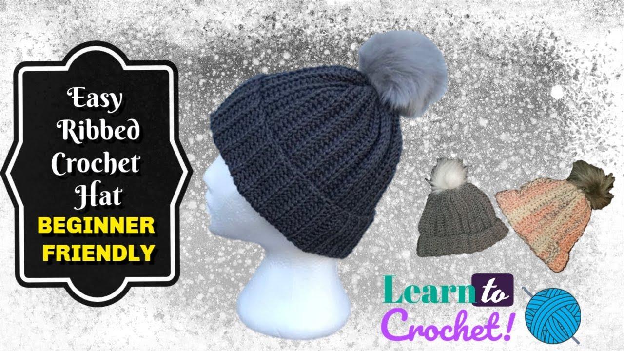 3cbe25e36d9ee How to Crochet  EASY Beginner Beenie Beginners (ALL SIZES ...
