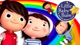 Rainbow Colors Song | Learn Colors of The Rainbow Song | Nursery Rhymes | From LittleBabyBum