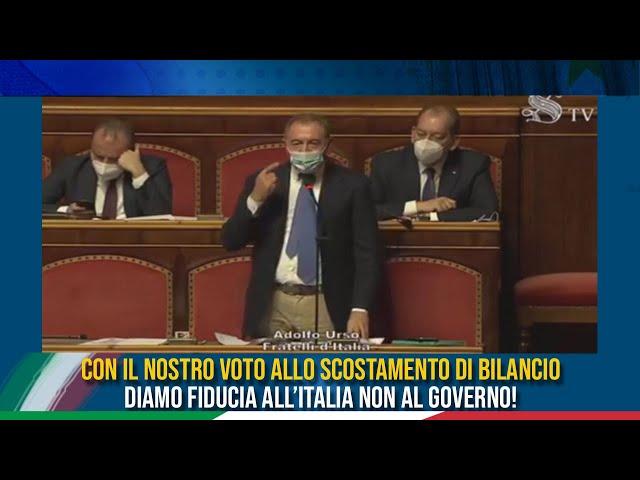 La dichiarazione di voto del Sen. Urso sullo scostamento di bilancio