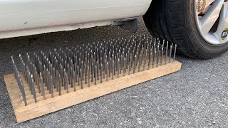 Experiment Car vs 200 Nails | Crushing crunchy & soft things by car | Test Ex