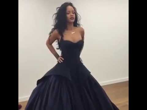Rihanna Black Dress Youtube