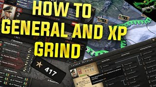 HOI4 How to General and Army XP Grind  (Hearts of Iron 4 Man the Guns Guide)