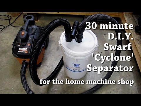 DIY Swarf / Dust Cyclone Separator