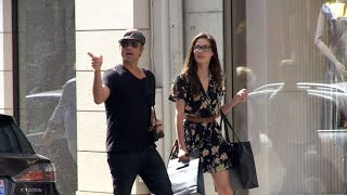 EXCLUSIVE: John Stamos and girlfriend Caitlin McHugh walking in the streets of Paris