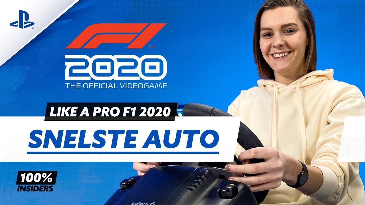 SNELSTE AUTO en SPECIALE GEAR voor F1 2020? | 100% #8 | PlayStation Insiders /w Maxime