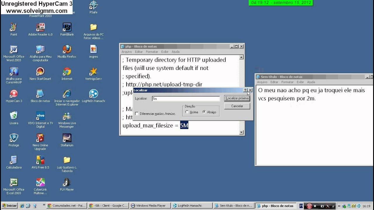 Phpmyadmin2014 - Como Aumentar A Capacidade De Arquivos No Phpmyadmin