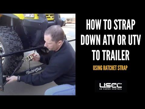 Tie Down ATV Using Ratchet Straps