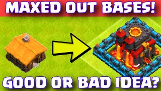 Clash Of Clans MAXED OUT BASES STRATEGY | SHOULD I MAX OUT EVERYTHING