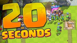 20 SECONDS TO WIN!! Clash Royale :: FASTEST VICTORY!