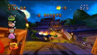 Crash Nitro Kart Gameplay -Tiny Temple track [ Test ] running on Pcsx2 Windows 10