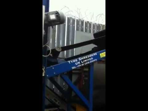 Waste Scrap Tyre Shredder Machinery for Sale Recycling Plant Devon