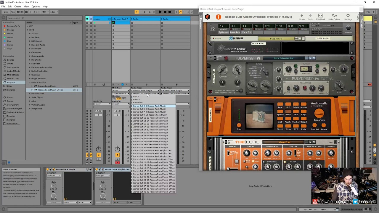 reason rack plugin routing in ableton live