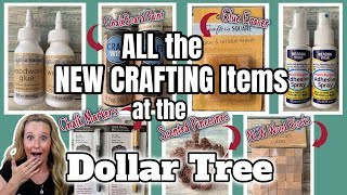 ALL the NEW CRAFTING Items at the DOLLAR TREE | AMAZING FINDS