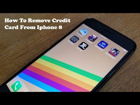 how to remove credit card from iphone 8 iphone 8 plus
