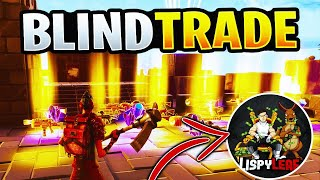 LUCKIEST BLIND TRADING w/LispyLeaf *MUST WATCH* Fortnite Save The World