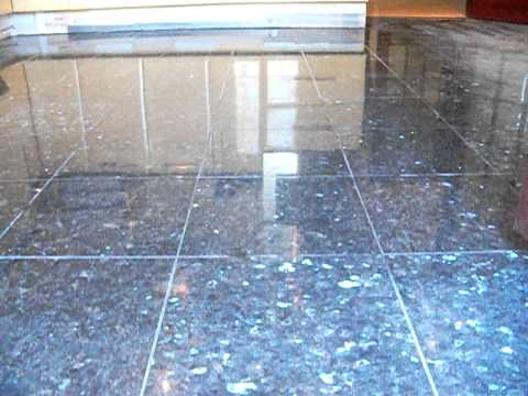 Finished Emerald Pearl Granite floor tiles - YouTube