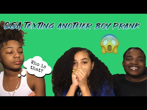 TEXTING ANOTHER BOY PRANK ON MONTY/QA! (HE GETS MAD!!)