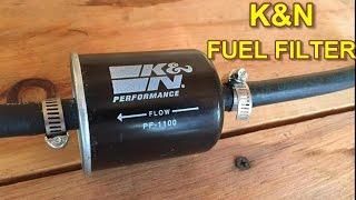 Nissan Maxima K&N Fuel Filter Installation