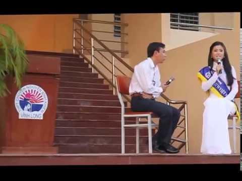 Á hậu Diễm Trang truyền lửa cho học sinh THPT chuyên Nguyễn Bỉnh Khiêm (Vĩnh Long)