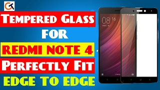 TEMPERED GLASS FOR REDMI NOTE 4 (No gap at corners) | PERFECTLY FIT TO THE SCREEN | EDGE TO EDGE