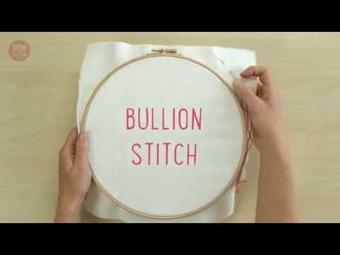 SewandSo Stitch Library: Bullion Stitch