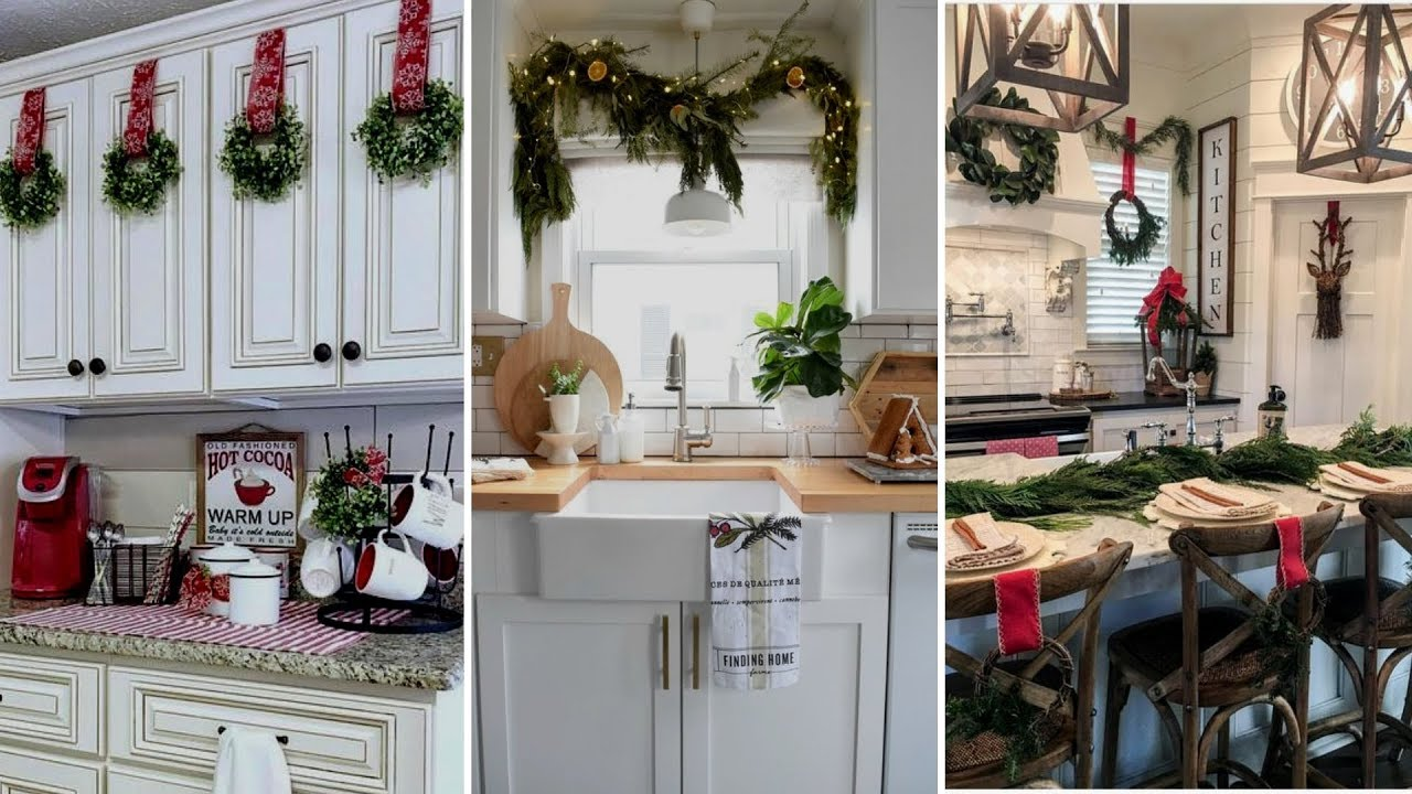🎄DIY Farmhouse style Christmas Kitchen decor Ideas🎄| Christmas Home  decor| Flamingo Mango