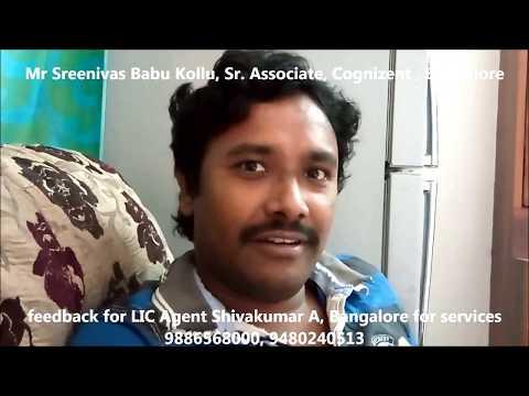LIC Customer Mr Sreenivas feedback on Mr Shivakumar A, LIC Agent Bangalore, India