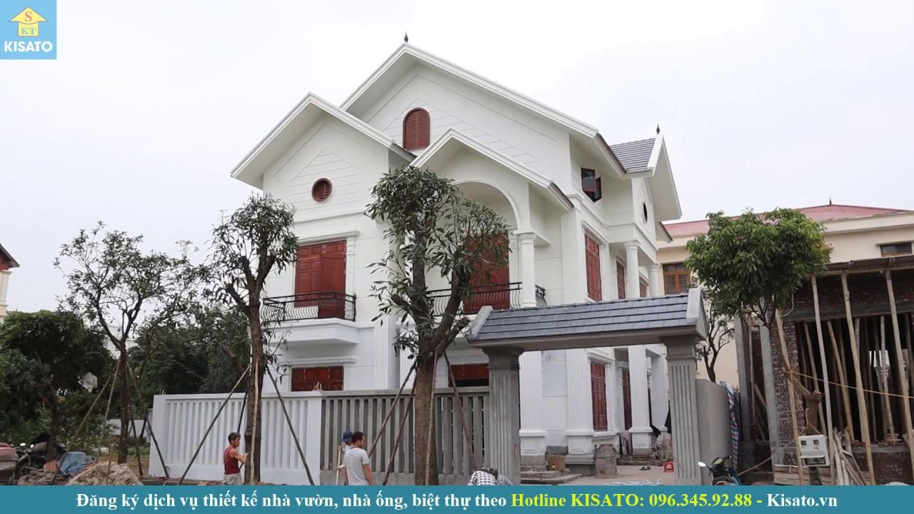 Mẫu Biệt Thự Đẹp Đẳng Cấp Do KISATO Thiết Kế Cho Nhà Anh Tú Tại TP Hưng Yên