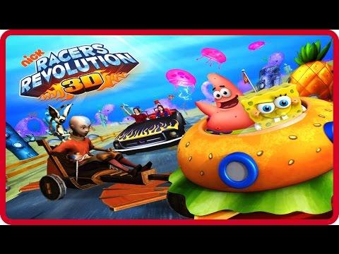 Nick Racers Revolution 3D Online Flash Game for children Levels 1-3