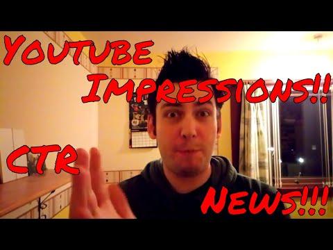 YouTube Studio: Impressions, CTR, NEWS!