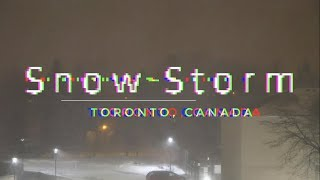Live Toronto snow storm January 28th, 2019 into Tuesday Jan 29th (pre-recorded)