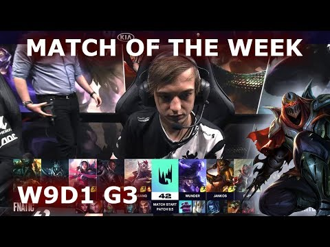Fnatic vs G2 eSports | S9 LEC Spring 2019 Week 9 Day 1 | FNC vs G2 W9D1