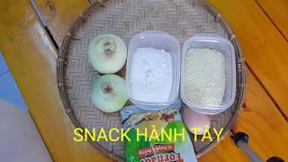 Snack hành tây || cách làm snack hành tây phô mai tại nhà ||Thanh Tâm Food