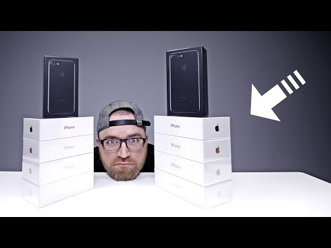 Unboxing Every iPhone 7 & iPhone 7 Plus