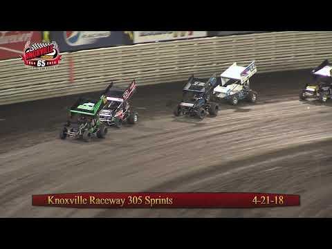 Knoxville Raceway 305 Highlights - April 21, 2018