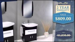 26 Inch Modern Bathroom Vanity With Wenge Wood Finish - Uniquevanities.com