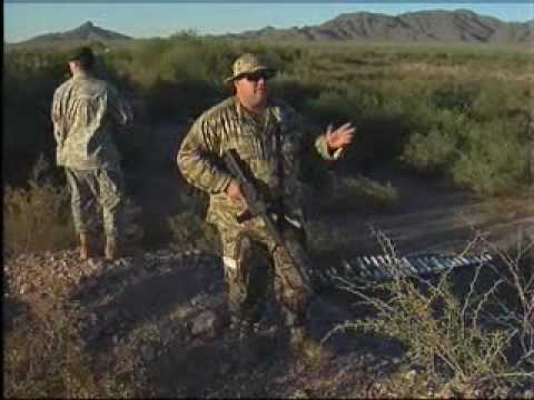 Armed patrol in Pinal County, Arizona