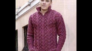 Модный Джемпер Спицами для Мужчин - 2019 / Trendy Cardigan For Men Spokes /Trendy Strickjacke