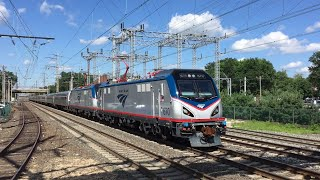 Amtrak HD 60fps: High Speed 125 MPH Train Action @ Princeton Junction w/ Temp Platform (8/3/16)