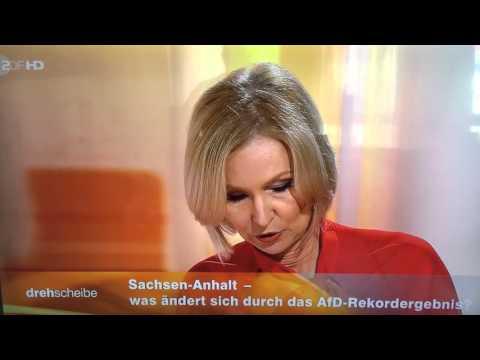 ZDF drehscheibe Live Kollaps Zusammenbruch Ohnmacht Schwächeanfall von Moderatorin
