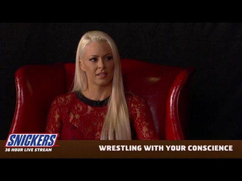 Maryse and Miz's live video on Snickers