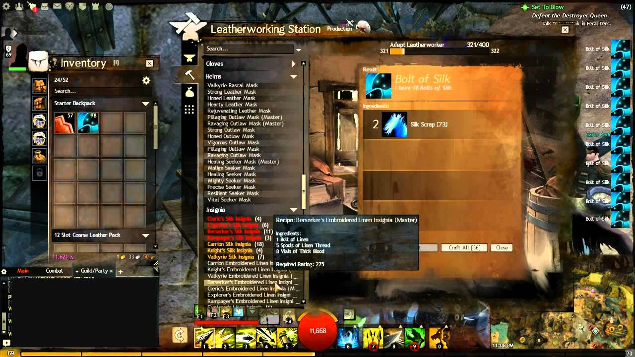 Guild Wars 2 Leatherworking Crafting Guide Youtube