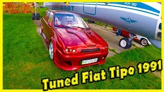 """Tuning Cars Show Fiat Tipo 1991. Classic Motor Show """"Old Car Land"""" 2018. Old Cars of the 90s"""