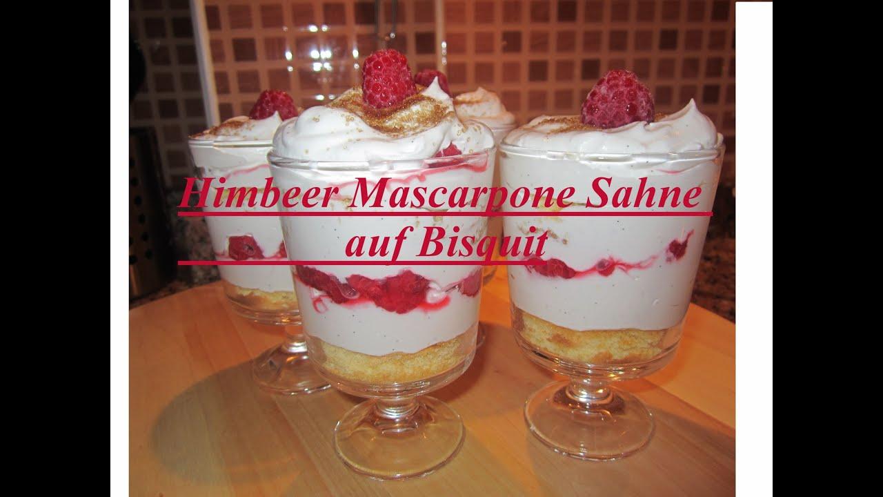 Valentinstag Menü Das Dessert Himbeer Mascarpone Sahne Auf