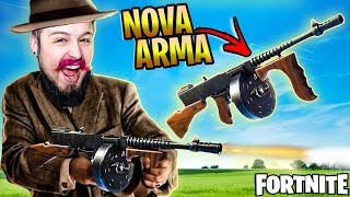 I USED THE NEW GUN TOMMY GUN AND PASSED THE VRAU IN THE MARGINAL! (Fortnite Battle Royalle)