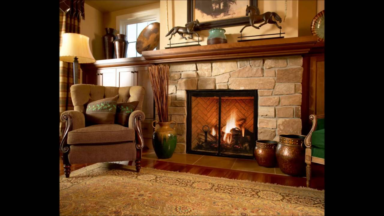 Old Fashioned Living Rooms With A Firep