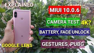 Redmi Note 5 Pro Miui 10.0.6.0 full review | Camera test (Google Lens), Battery performance, PubG